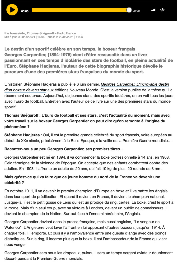France info Culture Stephane Haderas
